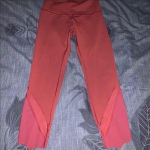 Lululemon perfect red high rise leggings